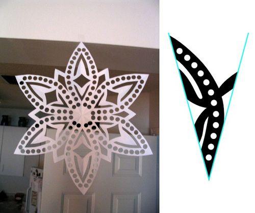 Snowflake Pattern, #5 by tiffanyharvey, via Flickr
