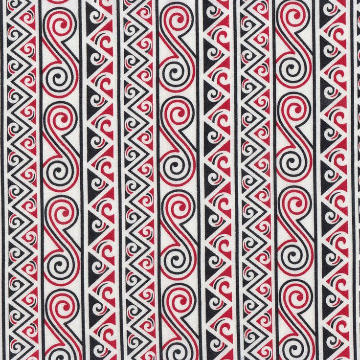 New Zealand Maori Tarapu Design Quilting Fabric - Find a Fabric.  Available to purchase in Fat Quarters, Half Metre, 3/4 Metre, 1 Metre and so on.