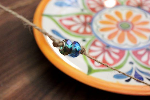 Really pretty…Bringing butterflies to your garden. Glass beads on the string