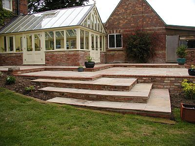 terraced patio designs
