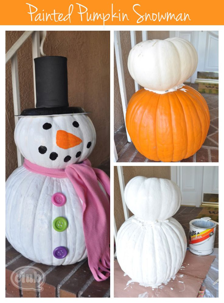 Left over Pumpkins? Make Snowmen! I have seen thi and it is Really Cute!! 14 Wonderful DIY Christmas Decorations