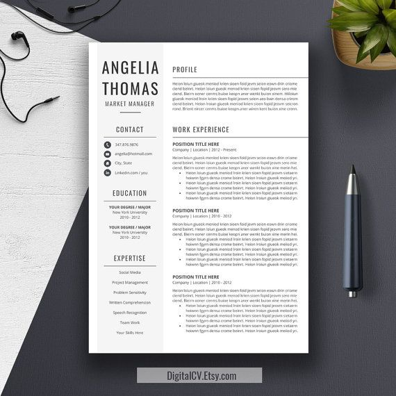 professional resume template cover letter word us by digitalcv