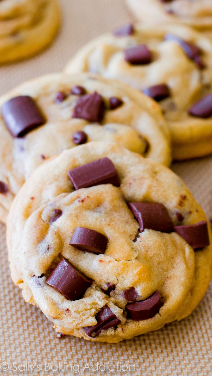 An easy, no-mixer required recipe for super chewy, soft, and perfect chocolate chip cookies!