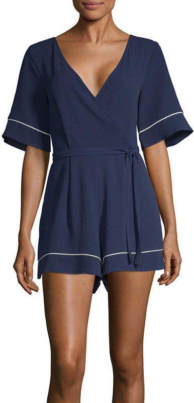 aa01c00e45c4 Trixxi Short Sleeve Romper-Juniors