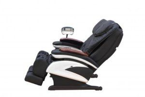 The BestMassage EC-06 offers advanced shiatsu massage techniques at an affordable price. The device comes equipped with additional compression percussion massage settings. These three massage options combine to help reduce soreness, relax stiff muscles, and improve your posture. Shiatsu massage chair with additional compression and percussion settings,  Genuine leather exterior, Chair can tilt and recline. Feels fantastic!  Heated rollers
