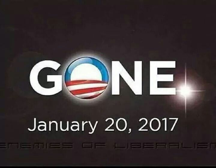 Happily marking the day when America's most liberal, socialist, WORST president EVER will leave the White House for good...