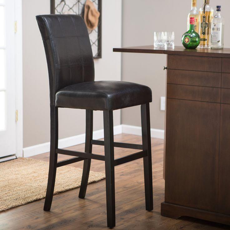 Have to have it. Palazzo 34 Inch Bar Stool - Black - $109.99 @hayneedle