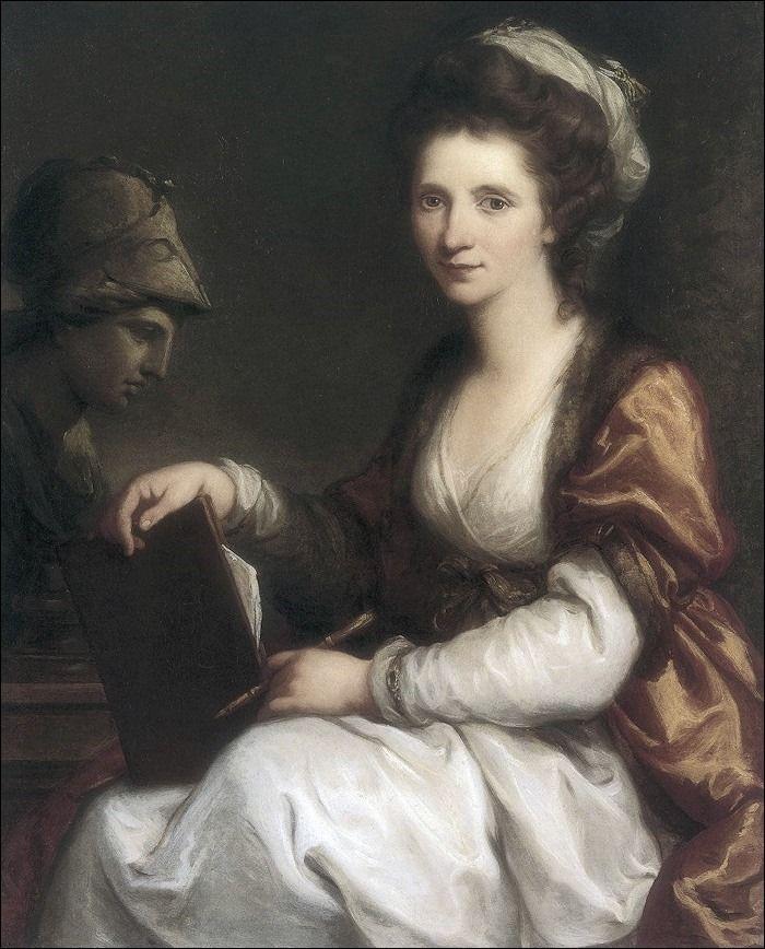 Angelica Kauffman · Autoritratto con busto di Minerva · 1780