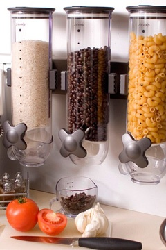 KITCHEN - Smart space food dispenser- kids cereal in the pantry.