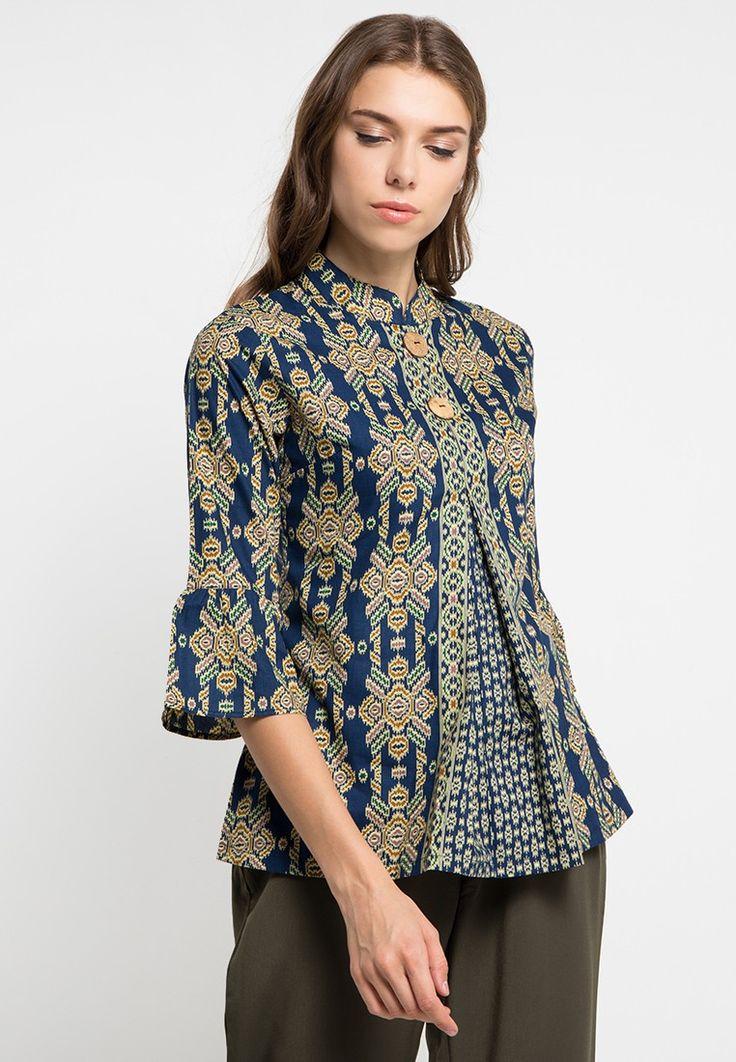 Blouse Batik Tenun_0 (Dengan gambar) | Model baju wanita