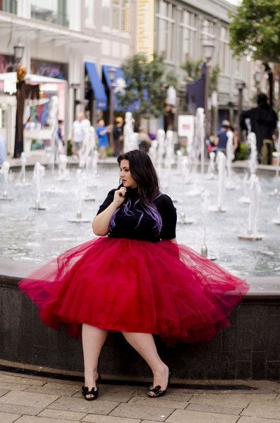 Plus Size High/Low Tutu - Burgundy (Sizes 1X - 6X)  - Society Plus - Plus Size Fashion