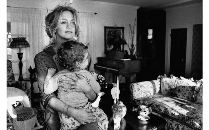 Goldie Hawn with son Oliver, 1978. 'I did a lot of work with Goldie, but this was my favourite. It just has that wonderful quality that everybody loves about her.'