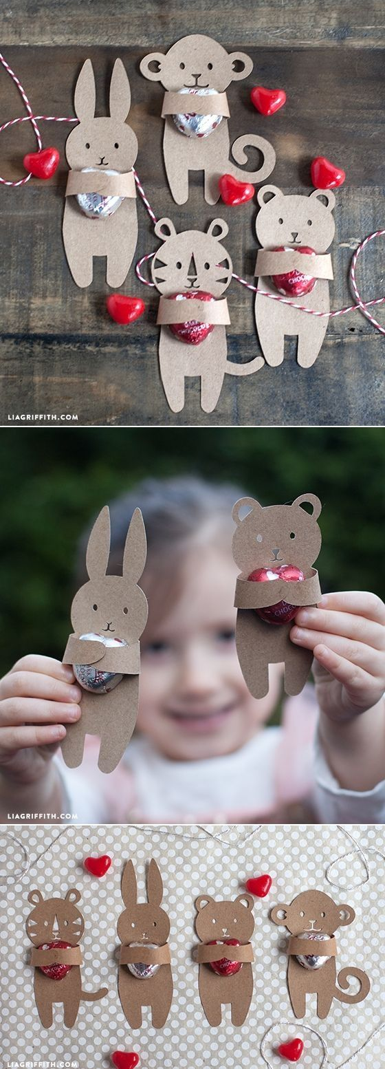 DIY: Kids Valentine's Candy Huggers (Free template) by Seriously?
