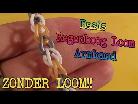 ▶ Diy Hoe Maak Je Een Basis Regenboog Loom Armband, Zonder Loom! - YouTube