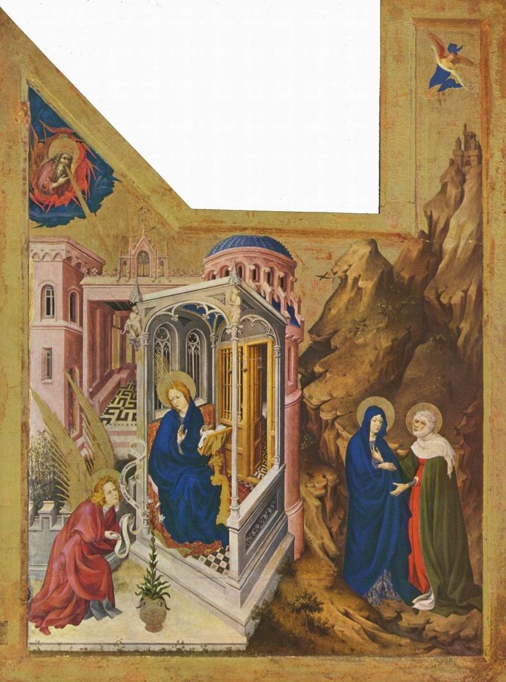 Annunciation by Melchior Broederlam, 1398