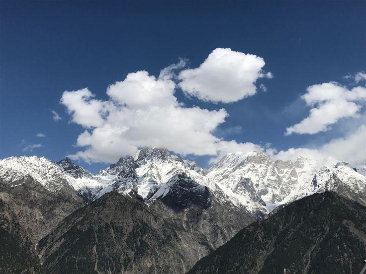 The majestuous Kinner kailash mount in Kalpa village
