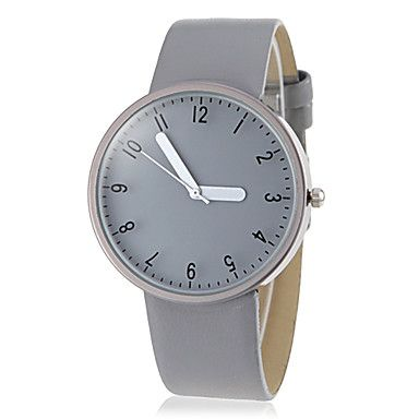 Unisex Simple All Matched Round Dial PU Band Quartz Analog Wrist Watch(Assorted Color) – AUD $ 8.64