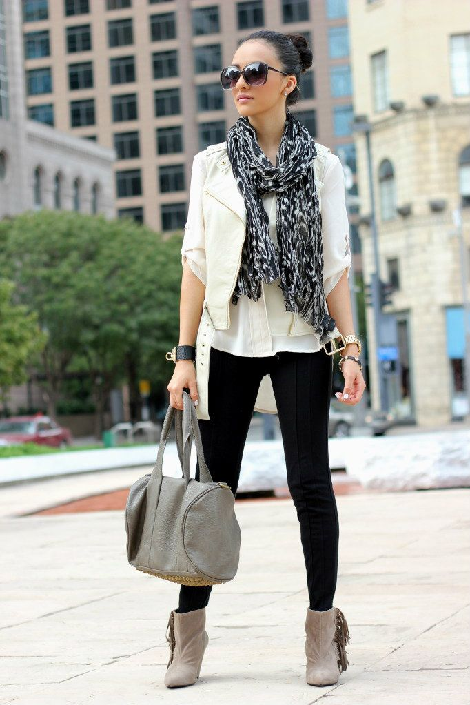 Faux leather vest: Forever21, Creme top: LoveshoppingMiami (soon online),  Black - 17 Best What To Wear Images On Pinterest