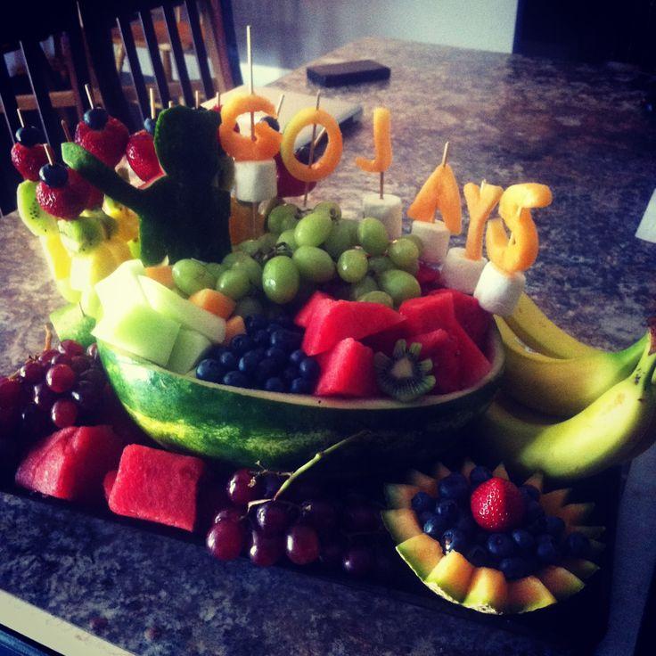 Baseball fruit display food i m gonna try