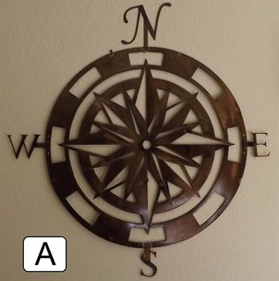 Picture of Compass Rose Metal Wall Art. I take back my last pin. This one is perfect!
