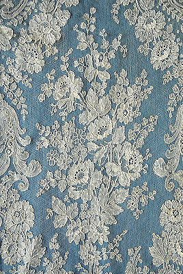 Antique/vintage 19th century Chantilly lace shawl - Pat Earnshaw collection.