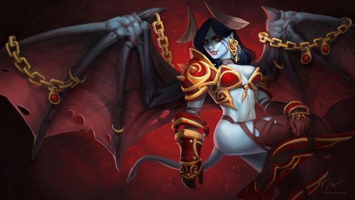 #Akasha #Queen of Pain #Dota 2 #Girl Wings HD #Wallpaper 1080p
