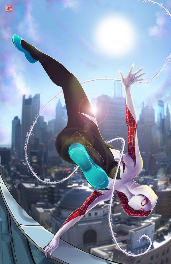 Spider-Gwen by Wil Woods.