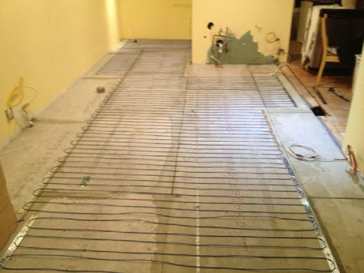 Electric Tile Floor Heating Cable Installation ~ http://lanewstalk.com/the-heated-tile-floor-project-preparation/
