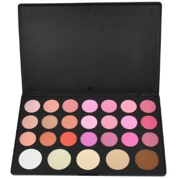 Amazon.com: Beauties Factory - Professional Grade - 26 Color Blush and Contour Palette (2 Shimmer + 5 Light Pearlized + 14 Matte) - AMERICAN...