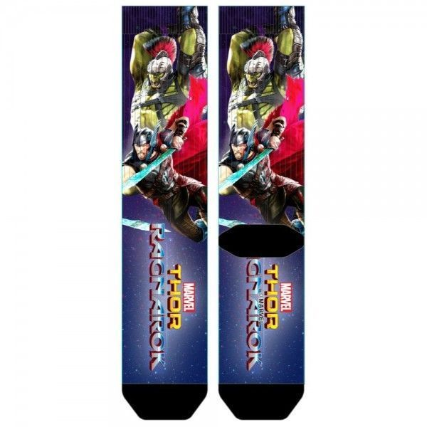 Thor Ragnarok Movie Sublimated Men's Crew Socks 1 Pair Gladiator HULK Marvel  #Bioworld #CrewSocks