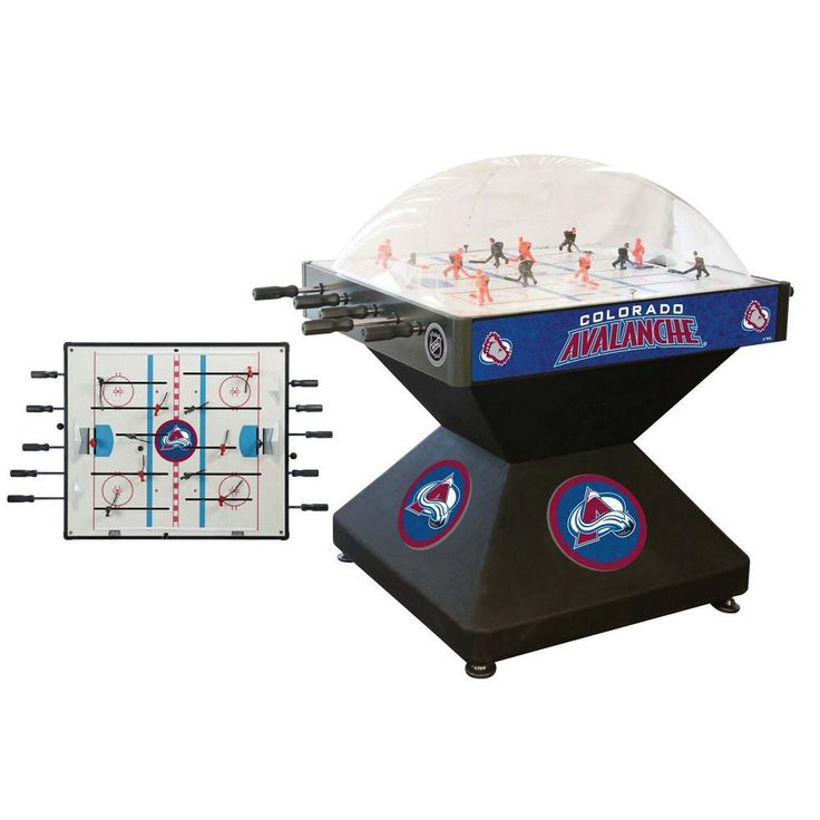 Spruce up the man cave with the Colorado Avalanche Deluxe Game Room Dome Hockey Table. Not as cold as the ice, but almost as much fun.