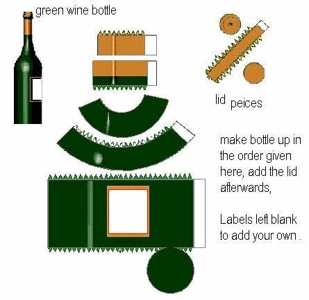 Miniature Printables - Green Wine Bottle - Paper64 - hkKarine1 - Picasa Web Albums