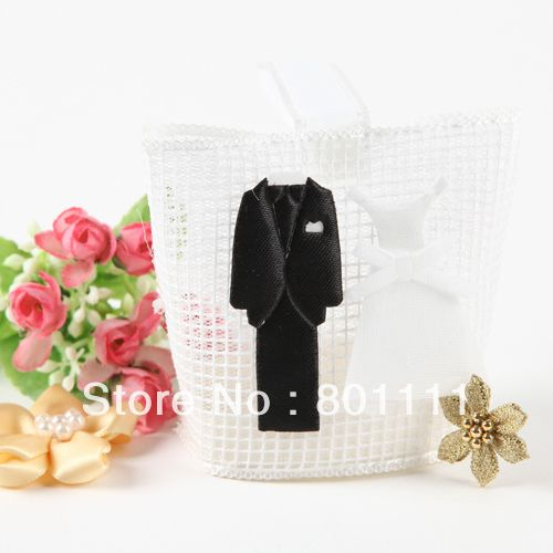 Tuxdeo Dress Favor bags Gift bags  wedding Engagement Valentine's day favors on AliExpress.com. $18.00