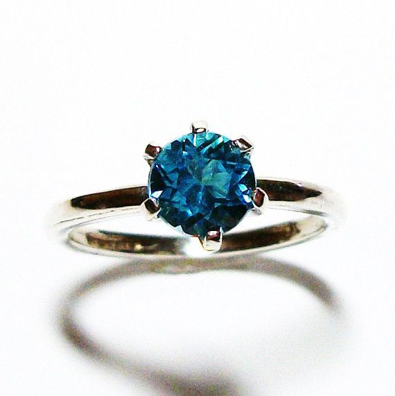Swiss blue topaz swiss blue topaz ring tiffany by Michaelangelas, $46.50