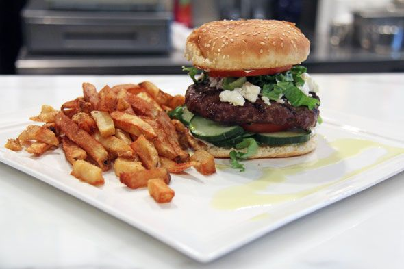 Burger from Frankie's located at 994 Queen St West