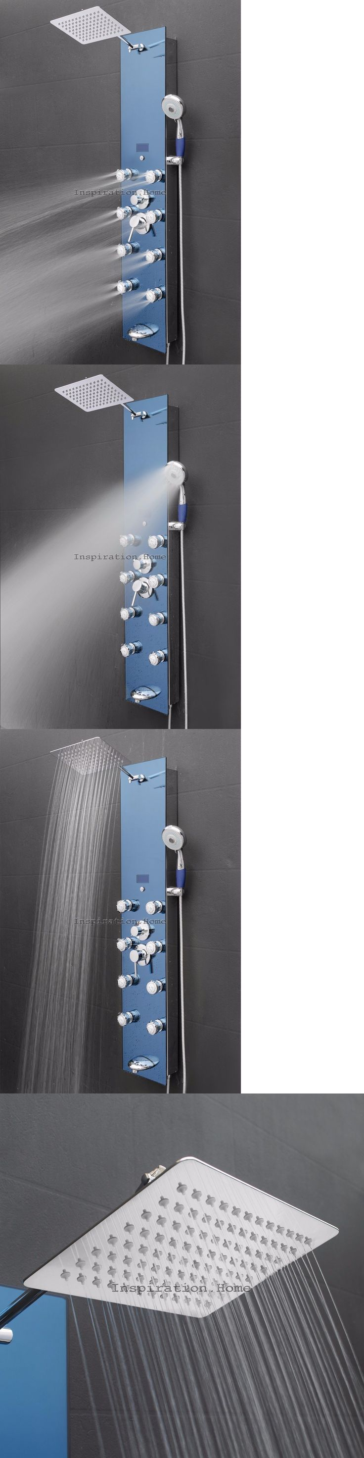 Shower Panels and Massagers 121849: Tempered Glass Shower Tower Head And Massage Functional Jets Panel Tub Spout -> BUY IT NOW ONLY: $189.99 on eBay!