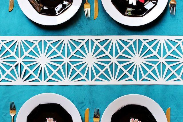 Oh So Beautiful Paper: DIY Midcentury Modern Table Runner