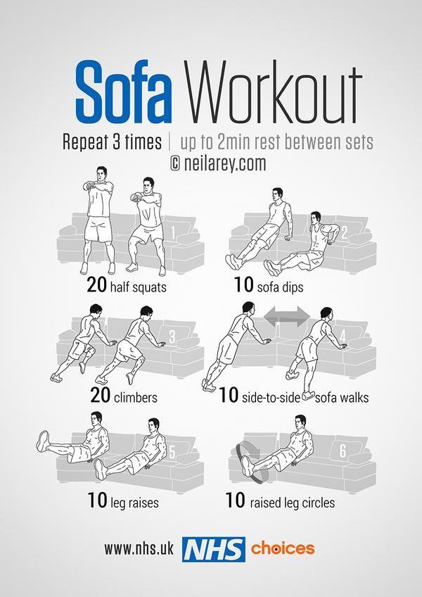NHS sofa workout ;)