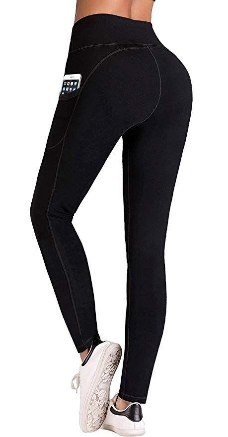 fbf76f4bf3e IUGA High Waist Yoga Pants Inner Out Pocket Design