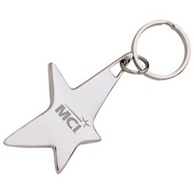 The Silver Stella Branded Keychain Min 100 - Express Promo Products - Keyrings - HCL-A11431 - Best Value Promotional items including Promotional Merchandise, Printed T shirts, Promotional Mugs, Promotional Clothing and Corporate Gifts from PROMOSXCHAGE - Melbourne, Sydney, Brisbane - Call 1800 PROMOS (776 667)