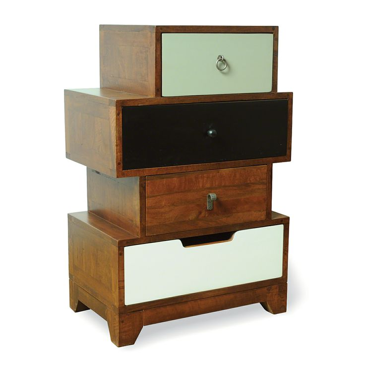 Rye 4-Drawer Asymmetric Chest of Drawers - Multicoloured | Chest of Drawers | ASDA direct