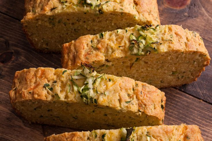 An easy, healthy zucchini bread recipe made with cornmeal, brown butter, cheddar cheese, and buttermilk.