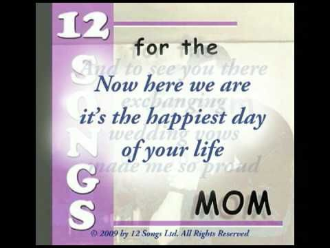 A Special Mother Son Song Written Especially For The Groom Mom Dance At Wedding Reception