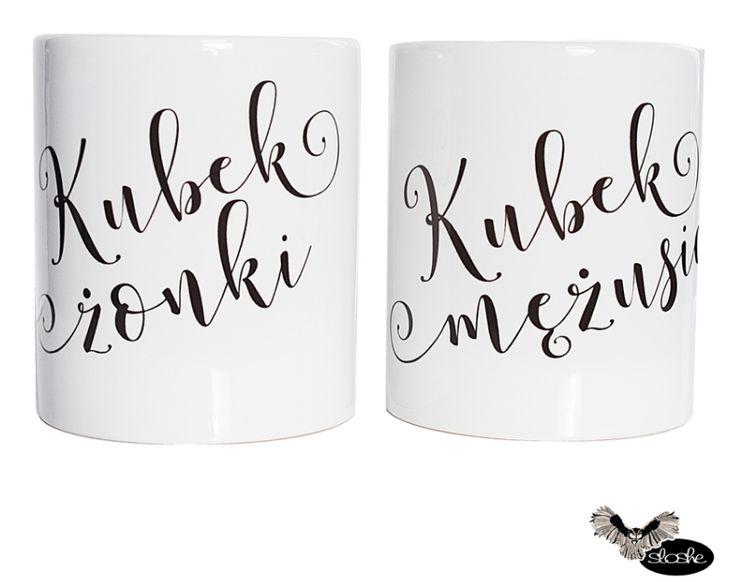 Kubek żonki i kubek mężusia, zestaw kubków 330/450ml