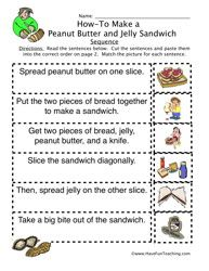 how to peanut butter jelly sandwich sequence worksheet education sequencing worksheets. Black Bedroom Furniture Sets. Home Design Ideas