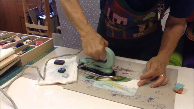 Tecnica encaustic  Bellissima tecnica per dipingere e creare cartoline o quadretti su carta lucida! #pointincraft #encaustic http://www.pointincraft.eu/it/