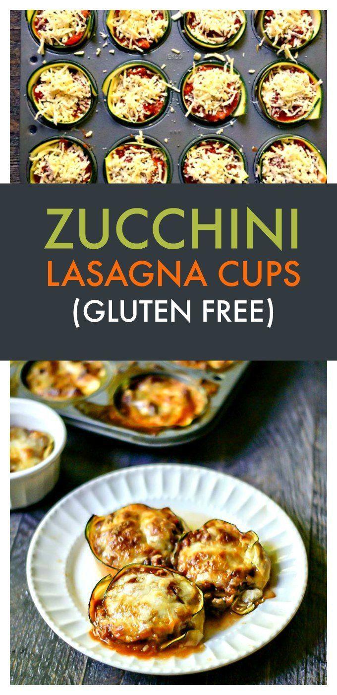 Zucchini Lasagna Cups - a fun, gluten free way to use those garden zucchini for a tasty lasagna lunch!