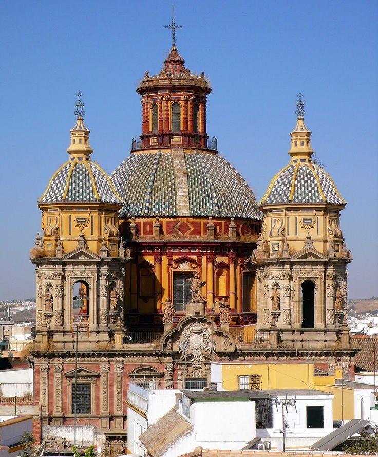Iglesia de San Luis de los Franceses (San Luis de los Franceses Church, 1699-1730). Iglesia Barroca. Sevilla, Spain