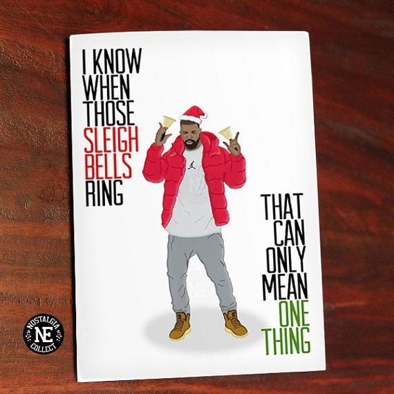It's a very Hotline Bling Christmas... | Funny Holiday Cards That Wont Make You Cringe | StyleCaster