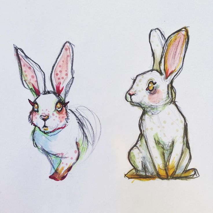 "Carmen Diaz 😘🐶 (@its_carmen_diaz) on Instagram: ""🐇🐇 #doodle #bunnies #sketchbook #sketchoftheday #rabbit #copic"""